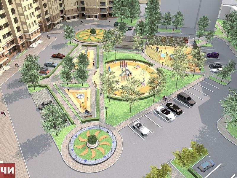 Дизайн проект дворов